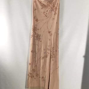 BCBGMAXAZRIA Dress Spaghetti Strap Lined Embellish